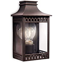 Philips myGarden Hedge - Aplique, iluminación exterior, 60 W, casquillo E27, color marrón rustico