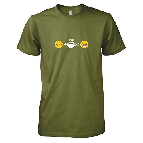 TEXLAB - Gute Laune Kaffee - Herren T-Shirt Oliv