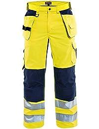 Blakläder Warnschutz-Bundhose mit Ventilationseffekt, 1 Stück, Größe C60, gelb / schwarz, 156518113399C60