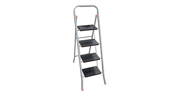 Sgabello scala scaletta 4 gradini pieghevole sicura antiscivolo uso