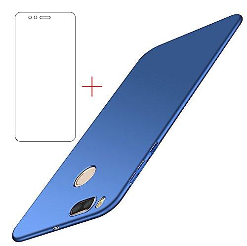 Funda Xiaomi Mi A1/ Xiaomi Mi 5X , UCMDA Xiaomi Mi A1 Carcasa con [Protector de Pantalla de Cristal Templado] [Ultra-Delgado] [Ligera] Anti-rasguños Estuche para Case Xiaomi Mi A1/ Xiaomi Mi 5X- Azul