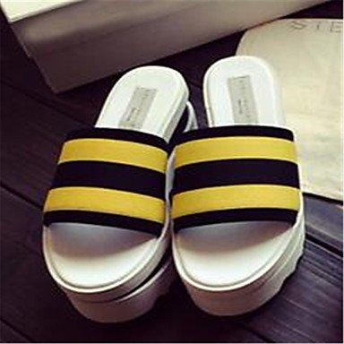 LFNLYX Nel mese di aprile 2015 le nuove stazioni europee una spessa crosta di muffin incantesimo sandali color cuoio sandali e pantofole parola Yellow