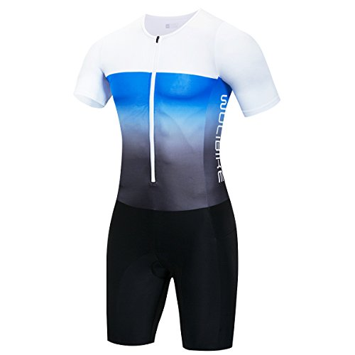 logas Maillot Cuissard Triathlon Homme Combinaison de Nage Manche Courte