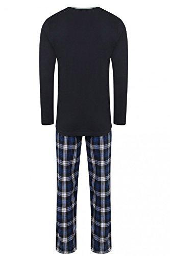 Tokyo Laundry Herren Relaxed Schlafanzug blau blau Small Courland - Midnight Blue