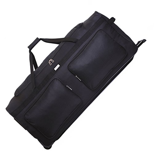Karabar Extra Large 34 Inch Wheeled Holdall - 3 Years Warranty! (Black)