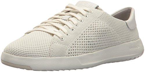 Cole Haan Damen Grandpro Stitchlite Tennis Trainer Sneaker, Elfenbein Leather/Optic White Chalk/Chlk Lthr/Wt, 38 EU (Cole Haan Frauen Schuhe)