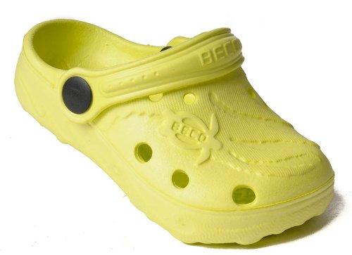BECO Kinderclogs / Badeschuhe Schildi lemon 33
