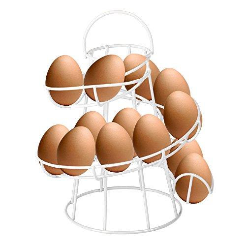 CrazyGadget® -Soporte cesta huevos alambre espiral