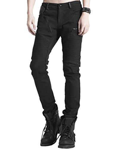 Punk Rave -  Jeans  - Uomo Black XX-Large