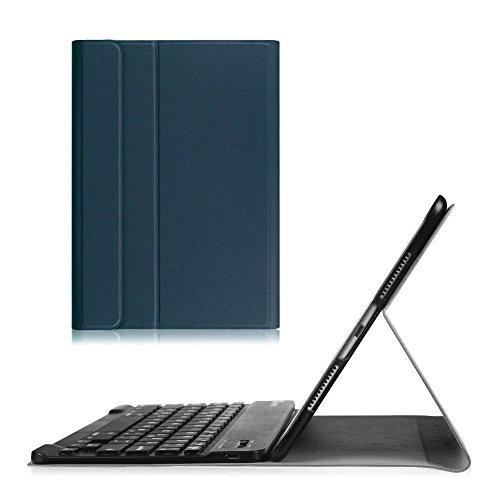 Ipad Case-abnehmbare Tastatur 2 (Fintie Blade X1 iPad 2 / 3 / 4 Bluetooth Tastatur Hülle Keyboard Case - Ultradünn leicht Sim Shell Ständer Schutzhülle Case Cover mit magnetisch abnehmbarer drahtloser deutscher Bluetooth Tastatur for für Apple iPad 2 / iPad 3 / iPad 4 Retina Tablet, Marieblau)