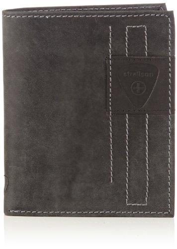 Strellson Richmond BillFold V12 4010001307 Herren Geldbörsen 11x13x1 cm (B x H x T) Schwarz (Black 900)