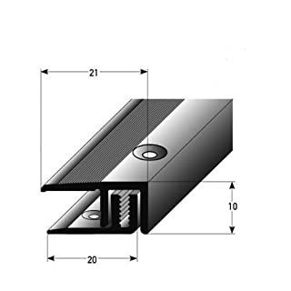 Connecting Wall Profile 100 cm Silver 7-15 mm for Laminate Flooring APL System 2-Piece with Screws and Dowels
