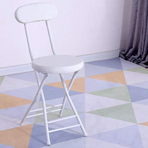 XUMINGZDY Mode klappstuhl hocker Hause rückenlehne Computer esszimmer Stuhl büro hocker hoher hocker tragbare einfache klare bar kleine Bank (Farbe : B) - Stoff Stahl Bar Hocker