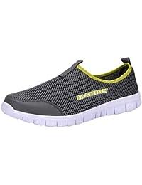 Zapatillas de Deporte para Hombre Otoño 2018 PAOLIAN Zapatos de Caballero Plano Rejilla Novio Casual Cómodo