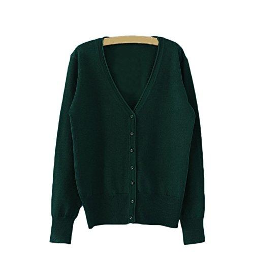 AJ FASHION - Gilet - Uni - Femme Blackish Green
