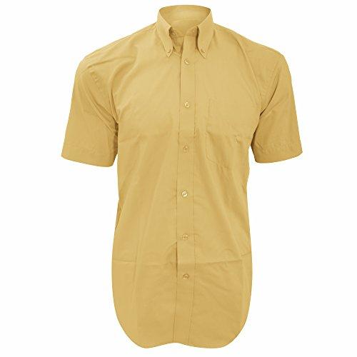 Chemise à manches courtes Kustom Kit pour homme Blanc