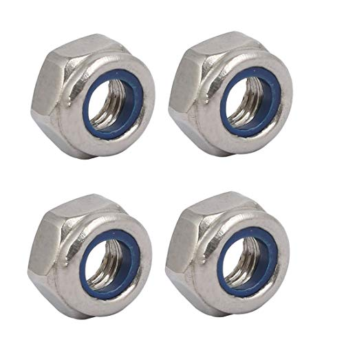 ZCHXD 4pcs M6 x 1mm Pitch Metric Thread 304 Stainless Steel Left Hand Lock Nuts -