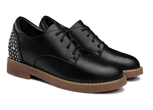 bas dentelle top Black chaussures augmenté chaussures plates des ronde chaussures Mme en ont avec chaussures g7xaTH