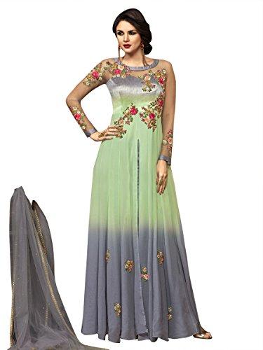 Indisch Salwar Kameez Frau Nicht abgesteppt kleid partywear Nicht Gewunden Nur Material Mirchi Fashion (Salwar Krepp Kameez)
