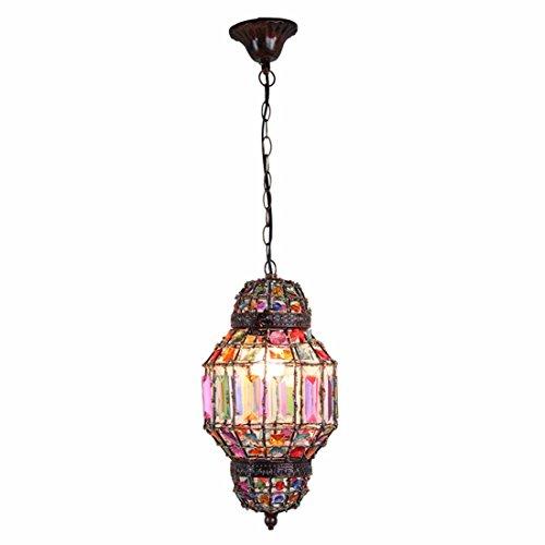 Lampada fatta a mano di abiti etnici romantico bar caffetteria bar Sospensione luce camera da letto lampada a sospensione