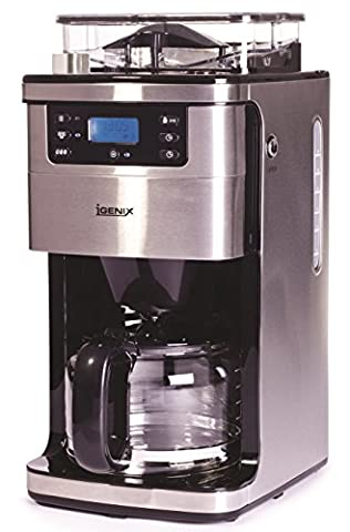 Igenix IG8225 1050W 1.5 Litre Bean to Cup Digital Filter Coffee Maker – Brushed Stainless Steel