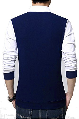 Seven Rocks Regular Fit Men's Cotton T-Shirt (XXXL-T16-NBWH, Navy Blue-White, XXX-Large)