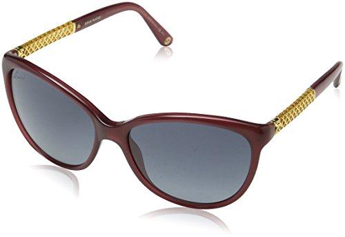 Gucci - occhiali da sole gg 3645/s ed, donna, lenti: grey brown shaded, montatura: shiny black (d28), 56
