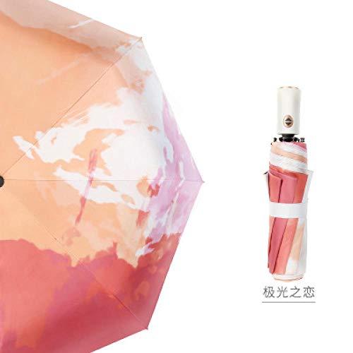 Vollautomatische Regenschirm Regen Frauen 3 Taschenschirm Weibliche Malerei Sonnenschirm Männer Winddicht Business Regenschirme Für Auto Paraguas @ Aurora Love
