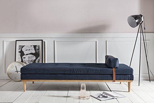 SalesFever® Daybed Mesa, Relaxliege oder Gästebett, in Blau, zum Entspannen, Liegen und Sitzen, trendiges Polstermöbel, 81,5 x 201 cm