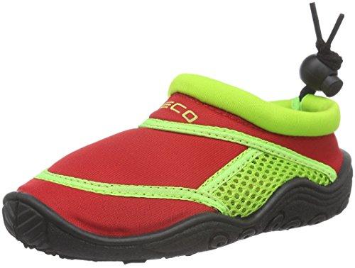 BECO Badeschuhe / Surfschuhe für Kinder rot/grün 25