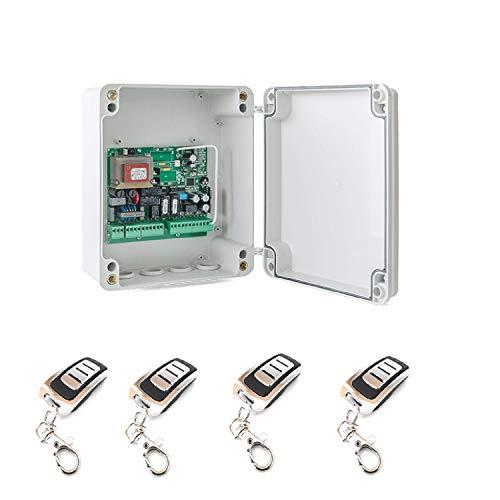 Kit-Central-electronica-MC2-maniobras-puerta-parking-garaje-batiente-de-1-o-2-hojas-con-paro-suave-y-receptor-incorporado-y-4-mandos-a-distancia-de-alta-seguridad-y-gran-alcance-material-profesional