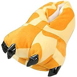 OCHENTA Estampados de Animales/Invierno Unisex Espesar Calido Zapato Zapatilla Jirafa Adulto(39-44)