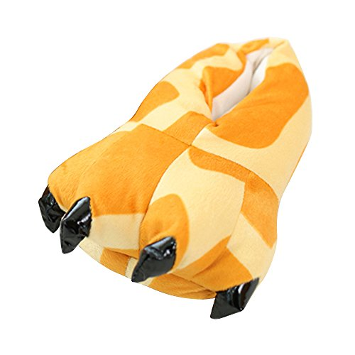 OCHENTA Slippers Unisex Animal Fantasy Plush Slippers Paw Cosplay