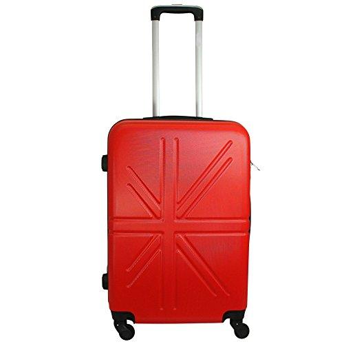 Reisekoffer Hartschale QTC MADRID Trolley XL Koffer Reise Koffer Case (Rot)
