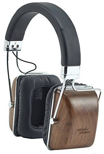 Mitchell and Johnson MJ1 Portable Electrostatic Headphone - Walnut Best Price and Cheapest