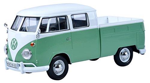 VW Volkswagen T1 Grün Weiss Pritsche Samba Bully Bus 1950-1967 1/24 Motormax Modell Auto