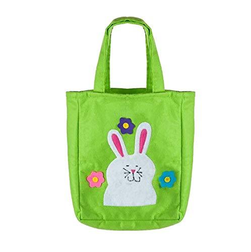 Hi Fashionz Easter Rabbit Ear Einkaufstasche Jute Woven Geschenkt�te Handtasche Festliche Gunst Zubeh�r One Size