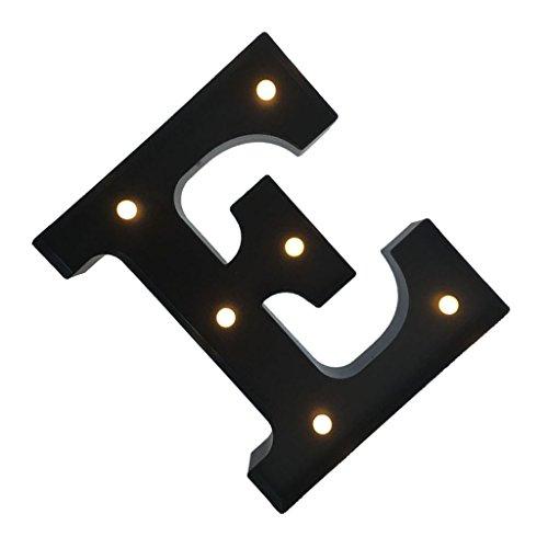 12inch Schwarz Buchstaben Licht Nachtlicht Leuchten Licht Zeichen Garten Karneval Hochzeit Dekor - E (Zirkus Dekor)