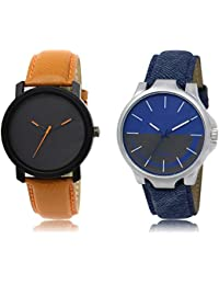 The Shopoholic Black Blue Grey Combo Fashionable Fancy Collection Black And Blue And Grey Dial Analog Watch For...