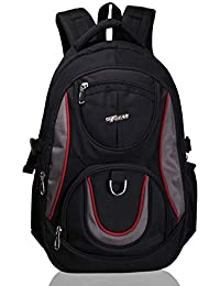 F Gear Axe Polyester 27 Liters Black School Bag