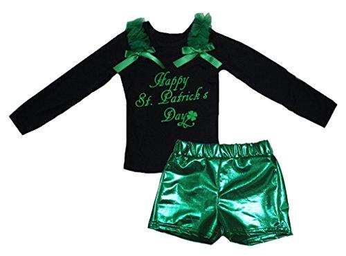 Petitebelle Glücklichen St Patrick Tag Schwarz L/s Shirt -