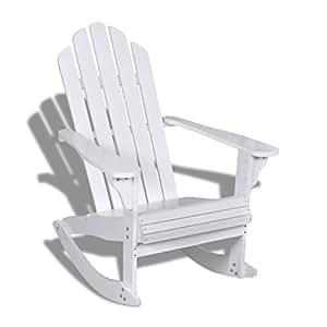À Balancelle Bois Chaise En Bascule Blanc Xingshuoonline OiTkXZPu