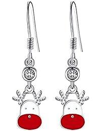 Ohrringe Ohrhänger Retro Lebensbaum 925 Silber plattiert Damen Mode Schmuck