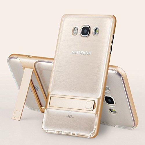 Sanchar's original For Samsung Galaxy J7 2016 Case 2 in 1 Phone Case Ultra Thin hybrid anti-shock Phone Stand Cover For Samsung Galaxy J7 2016 j710 Case golden