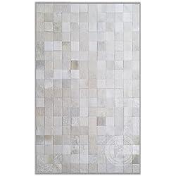 Alfombra Piel Vaca Patchwork | Blanco Natural | Medidas 270 x 330 cm
