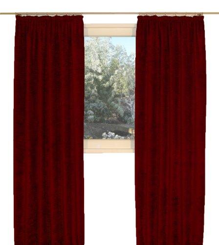 Preisvergleich Produktbild Wirth Thermovorhang Grönland B Chenille Kräuselbandschal Einzelschal,  180 / 134 cm,  Leichte Qualität: 238 g / qm,  Rubin
