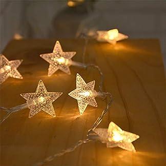 Zorara Cadena de Luces – Guirnalda Luces 6M 40 LED – Guirnalda Luces Pilas Estrella – Decoración Interior, Jardines, Casas, Boda, Fiesta de Navidad [Clase de eficiencia energética A+++]
