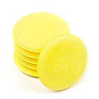 Sel-More Mikrofaser Wachs Applikator, Autocare ultrasoftes Mikrofaser Wachs Applikator mit Finger Pocket Wachs Applikator für Autos Wachs Applikator Schaumstoff Schwamm (Gelb, 12Stück) Gelb Gelb