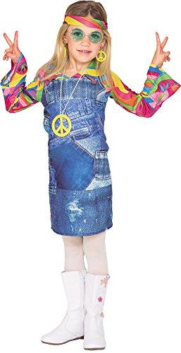 Fyasa 706464-t01Hippie Cowgirl Kind Kostüm, Mittel (Kreative Cowgirl Kostüm)