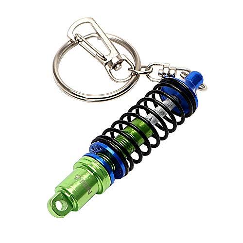 Auto Tuning Teile Stoßdämpfer Metall Schlüsselanhänger Auto Ornamente Auto Zubehör Schlüsselbund Für Männer Turbine Dämpfer (Blau)